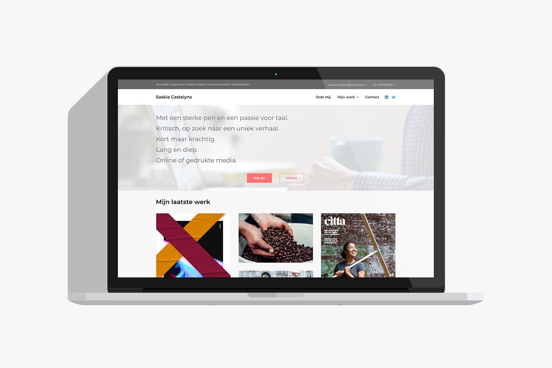 Saskia Castelyns websiteafbeelding
