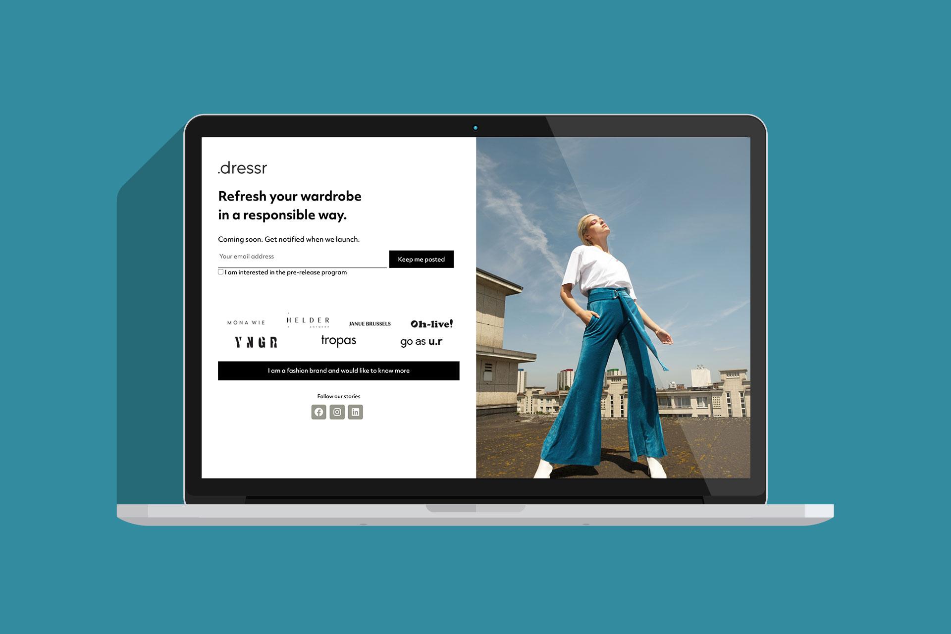 Dressr websiteafbeelding